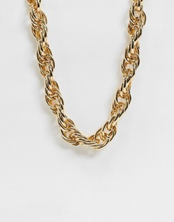 Necklace in 16mm Rope Chain in Gold Tone