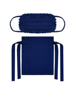 The Blue Silk Face Mask