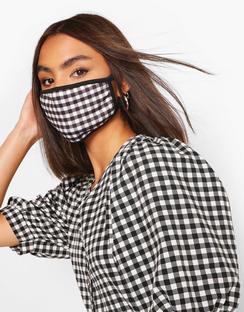Check Fashion Face Mask