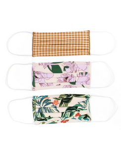 3-Pack Pleated Face Masks