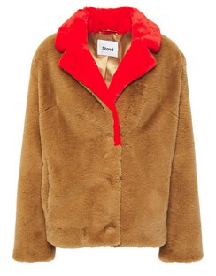 Mariska Two-tone Faux Fur Jacket