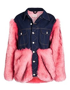 Faux Fur & Denim Jacket