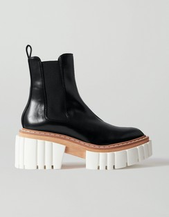 Emilie Vegetarian Leather Platform Chelsea Boots