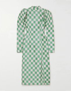 Theresa Checked Jacquard Midi Dress