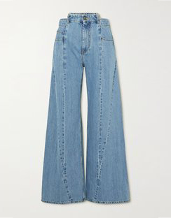 Décortiqué Paneled High-rise Wide-leg Jeans