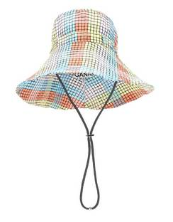 Seersucker Check Cotton-blend Hat