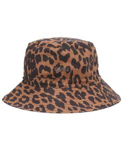 Leopard-print Cotton Bucket Hat
