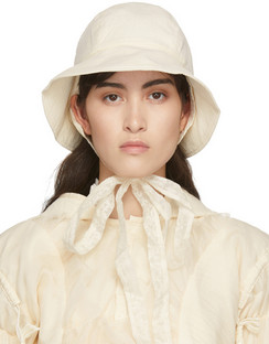 Beige Tie Up Beach Hat