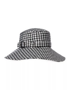 Kaya Houndstooth Check Hat