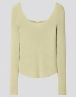 W's U 3D round neck L/S sweater