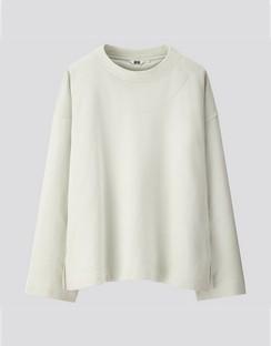 W's U sweat boxy L/S pullover shirt