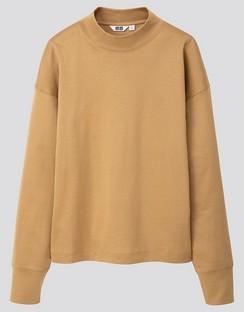 W's U mock neck L/S T-shirt