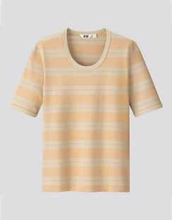 W's U fitted striped S/S T-shirt