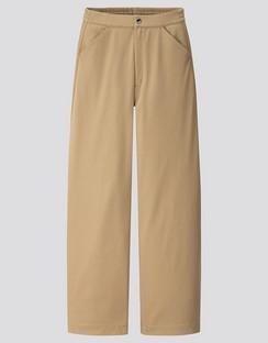 W's U wide fit curved twill jersey pants