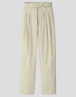 W's U cotton twill tuck pants