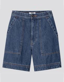 W's U denim relaxed shorts