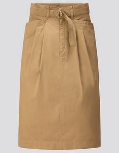 W's U cotton twill belted skirt