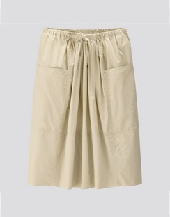 W's U gathered skirt