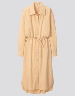 W's U draw string L/S shirt dress