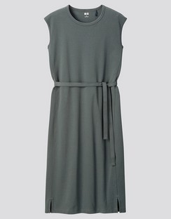 W's U crew neck sleeveless dress