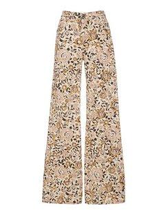 Etro Violetta Stretch Printed High-Rise Flared Jean