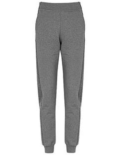 Amie Grey Striped Cotton Sweatpants