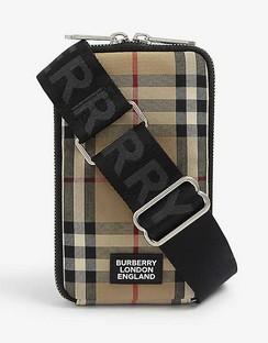 Ryan Vintage Check canvas phone wallet