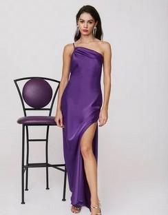 X Emrata All for One Shoulder Maxi Dress