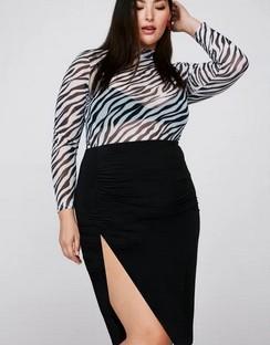 X Emrata Love on the Side Midi Plus Skirt