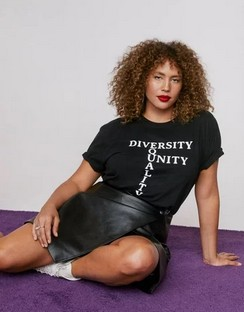 X Emrata Equality Unity Plus Graphic Tee