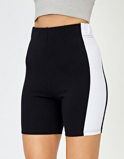 Panelled Bike Short