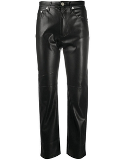 Faux-leather Trousers