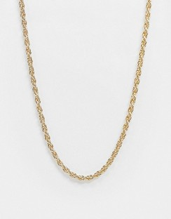 Exclusive Necklace in Twisted Gold Chain