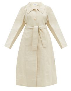 Belted Cotton-blend Canvas Coat