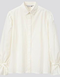 JWA Gathered Long Sleeve Shirt