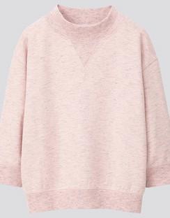 JWA High Neck 3/4 Sleeve Sweatshirt