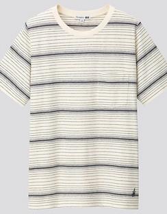 JWA Cotton Linen Striped Short Sleeve T-shirt