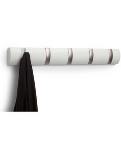 Umbra Flip 5 Coat Hooks - White