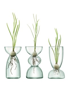 LSA Canopy Clear Trio Vase Set - 13cm