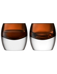 LSA Whisky Club Peat Brown Tumbler - 230ml (Set of 2)