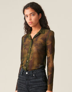 Printed Mesh Shirt