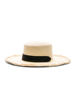 Frayed Boater Hat With Band