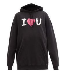 Valentine Cotton-jersey Hooded Sweatshirt