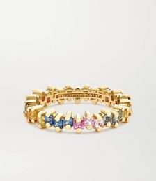 18-karat gold sapphire ring