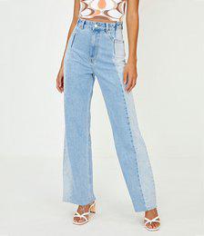 Two Tone Straight Leg Jean