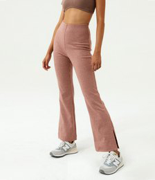Split Side Check Ponte Pant