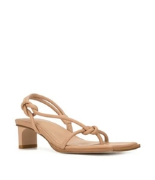 Knot Low-heel Sandals