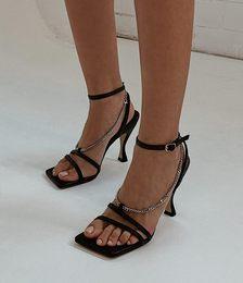 Libra Black Capretto Heels