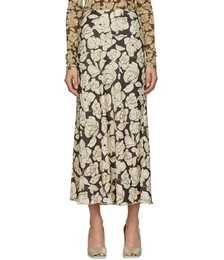 Brown & Beige Rezi Mid-Length Skirt