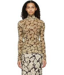 Brown & Beige Herri Turtleneck